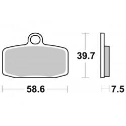 Накладки за спирачки SBS 885 RSI