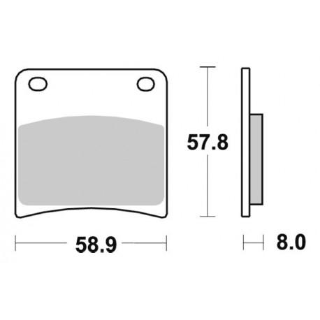 Накладки за спирачки SBS 620 HF FRONT