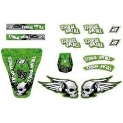 Комплект лепенки Kawasaki Tribal Skull - универсални