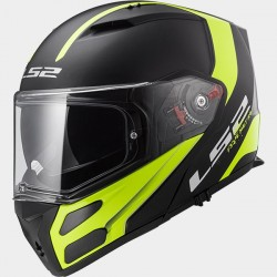 Каска LS2 FF324 METRO RAPID MATT BLACK HI-VIS YELLOW