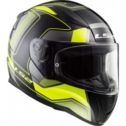Каска пистова LS2 FF353 RAPID CARRERA BLACK HI-VIS YELLOW