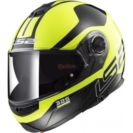 Каска LS2 FF325 STROBE ZONE BLACK HI VIS YELLOW