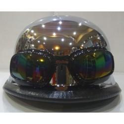Каска за чопър мотоциклет с очила - различни цветове