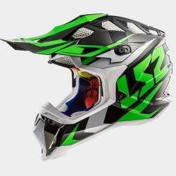Каска кросов шлем LS2 MX470 SUBVERTER Nimble Black White Green