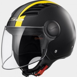 Каска с отворено лице LS2 OF562 AIRFLOW METROPOLIS MATT BLACK YELLOW