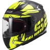 Каска пистова LS2 FF353 RAPID CROMO MATT BLACK HI VIS YELLOW