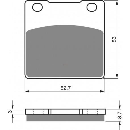 Накладки за спирачки NAGANO - FA63