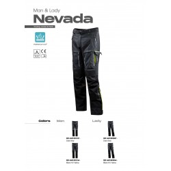Панталон LS2 NEVADA MAN PANT BLACK HI-V YELLOW