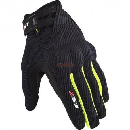 Ръкавици LS2 DART 2 MAN GLOVES BLACK H-V YELLOW